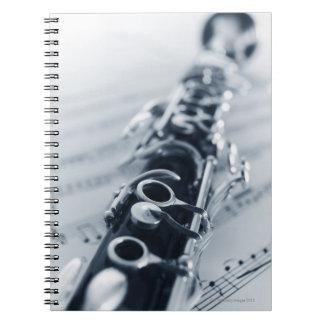 Clarinet detallado libretas espirales