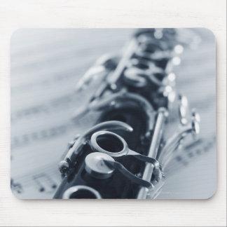 Clarinet detallado mouse pad