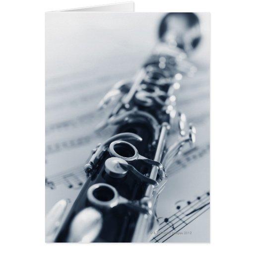 Clarinet detallado tarjeta de felicitación