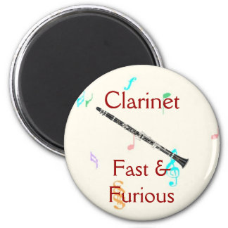 Clarinet:  Fast & Furious Magnet
