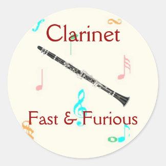 Clarinet:  Fast & Furious Sticker