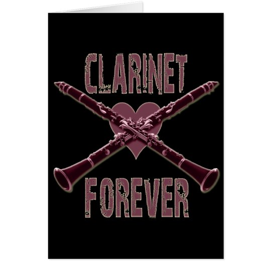Clarinet Forever Card
