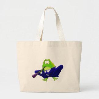 Clarinet Frog Jumbo Tote Bag