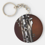 Clarinet Gift on Gold Spotlight Background Keychain