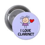 Clarinet Girl Pins