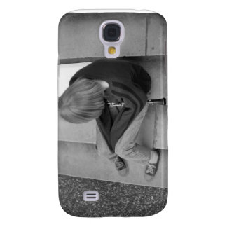 Clarinet Girl Player on Steps with Tuner and Music Samsung Galaxy S4 Case