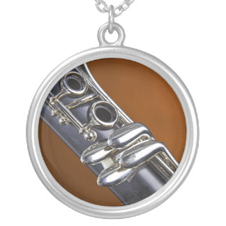 Clarinet Gold Background Necklace