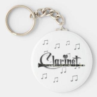 Clarinet I Love Clarinet Basic Round Button Keychain