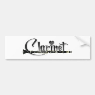 Clarinet I Love Clarinet Bumper Sticker