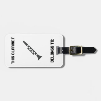 Clarinet Identification Tag Tags For Luggage