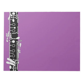 Clarinet in Purple Notepad