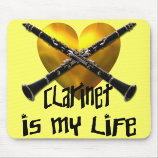 CLARINET IS MY LIFE MOUSE PAD