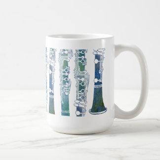 Clarinet Keys in Green Coffee Mug