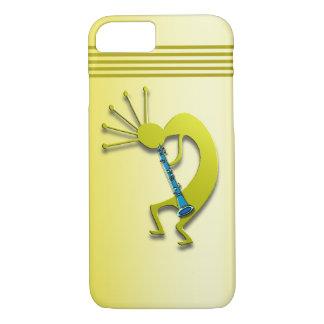 Clarinet Kokopelli in Gold iPhone 8/7 Case