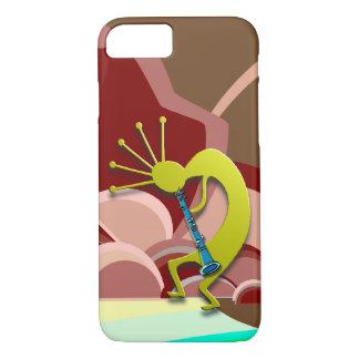 Clarinet Kokopelli on the Beach iPhone 8/7 Case