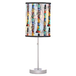 Clarinet Lamp Colorful Clarinet Design Music Lamp