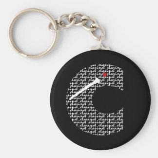 Clarinet Letter C Basic Round Button Keychain