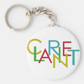 Clarinet Letters Basic Round Button Keychain
