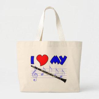 Clarinet Love Large Tote Bag
