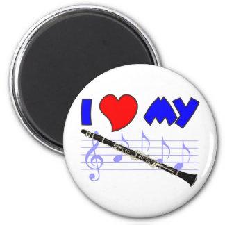 Clarinet Love 2 Inch Round Magnet