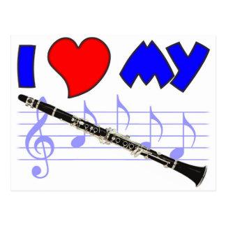 Clarinet Love Postcard