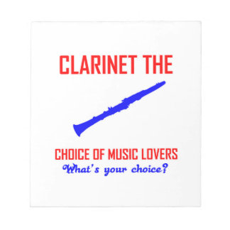 Clarinet lovers design notepad
