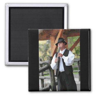 Clarinet Man in the farm Magnet