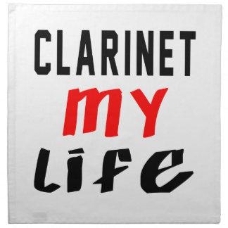 Clarinet mi vida servilletas de papel