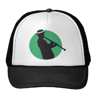 Clarinet more player trucker hat