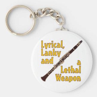 Clarinet mortal llavero redondo tipo pin