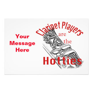 Clarinet Music Musician Band Invitation Cards Photo Print