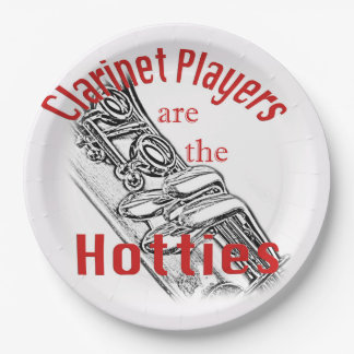 Clarinet Music Musician Band Kitchen Dining Paper Plate