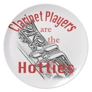 Clarinet Music Musician Band Kitchen Dining Plate