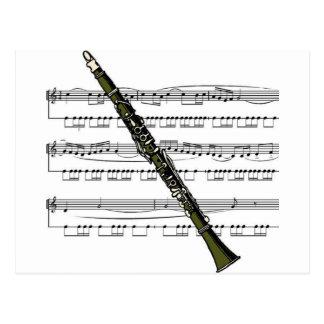 Clarinet musical 09 B Postcard