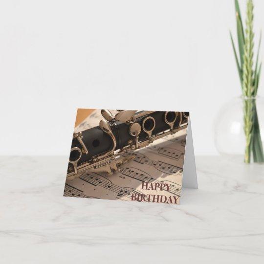 Clarinet Musical Instrument Birthday Card