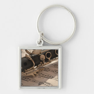 Clarinet musical instrument with notation keychains
