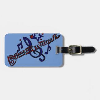 Clarinet Musical Tribal Art Bag Tag
