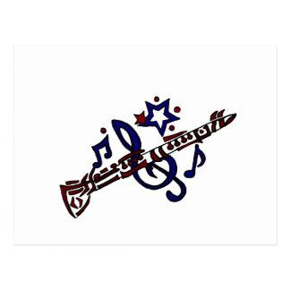 Clarinet Musical Tribal Art Postcard