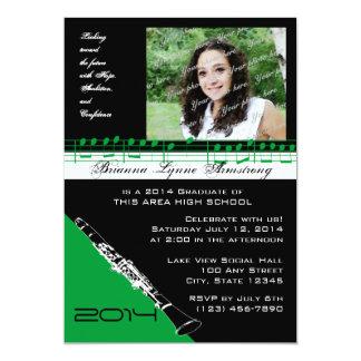 Clarinet Musician Graduate Green Card