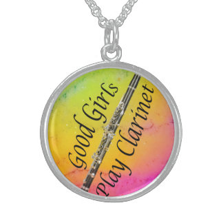 Clarinet Musician necklace jewelry YOUR TEXT