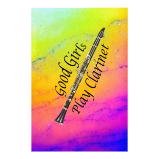 Clarinet Musician Poster or Photograph YOUR TEXT