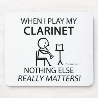 Clarinet nada materias otras alfombrilla de raton