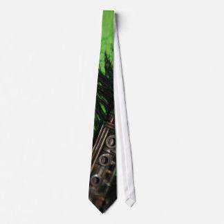 Clarinet negro y verde corbatas personalizadas