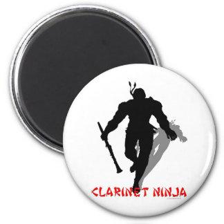 Clarinet Ninja 2 Inch Round Magnet