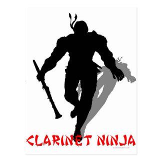Clarinet Ninja Postcard