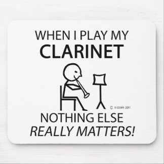 Clarinet Nothing Else Matters Mouse Pad
