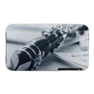 Clarinet on Music Sheets iPhone 3 Cases