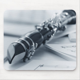 Clarinet on Music Sheets Mouse Pad