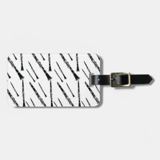 Clarinet Pattern Tag For Bags