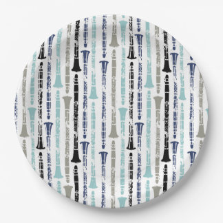Clarinet Pattern Paper Plate